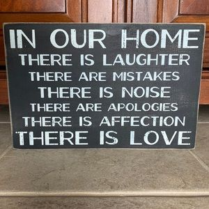 In our home wooden sign
